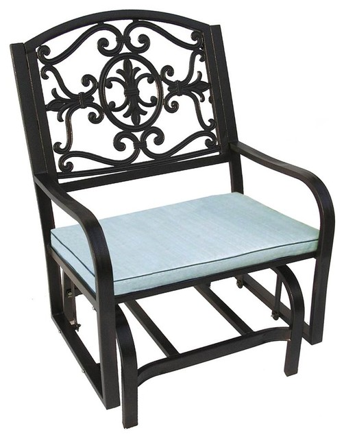 Lakeville Glider Chair With Cushion Mediterranean Outdoor Gliders By Ladder