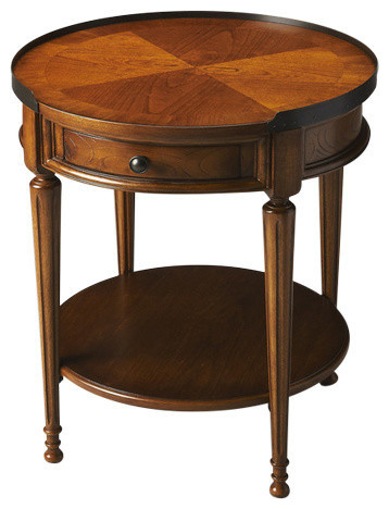 Butler Specialty Masterpiece Sampson End Table, Olive Ash Burl.