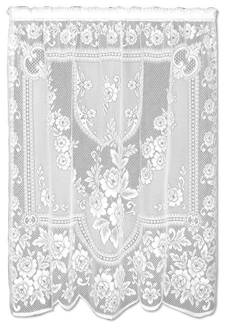 Victorian Rose Panel, White, 84.