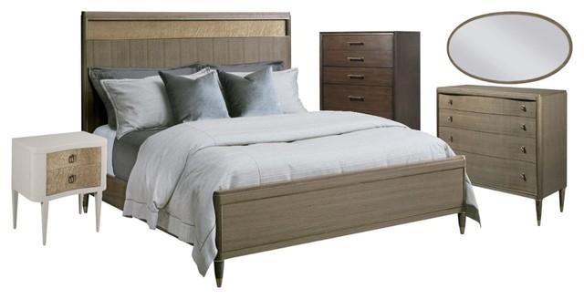 American Drew Modern Classics 5 Piece Craven Platform Bed Set California King