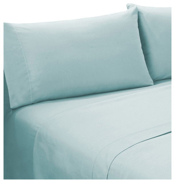 Supreme Series Light Blue Bed Sheet Set, Light Blue, Twin