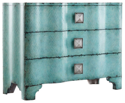 Hooker Furniture - Turquoise Crackle Chest & Reviews   Houzz
