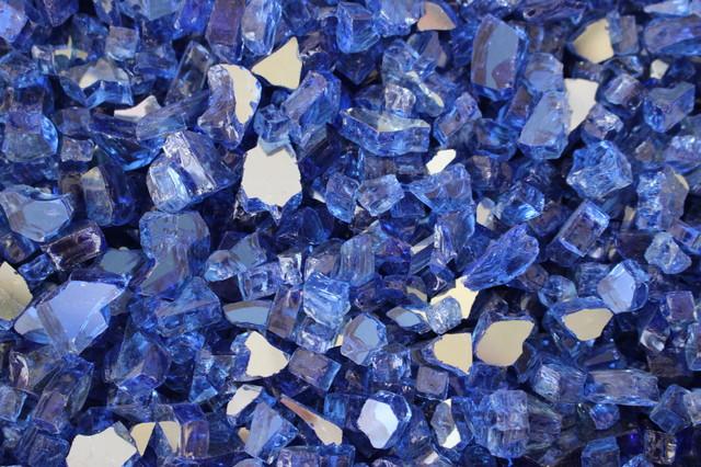 Fireglass, Cobalt Blue Reflective Glass, 1/4.