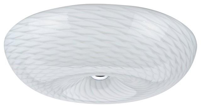 63001l Led Large Flush Mount Ceiling Light Fixture Chrome 18 Diameter
