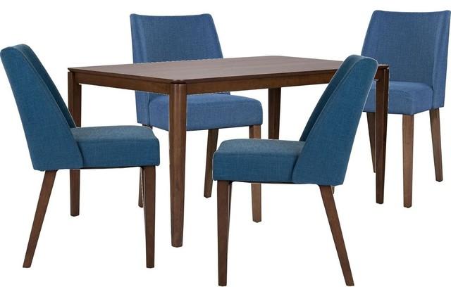 Liberty Space Savers 5-Piece C9001S-BU Rectangular Leg Dining Table Set