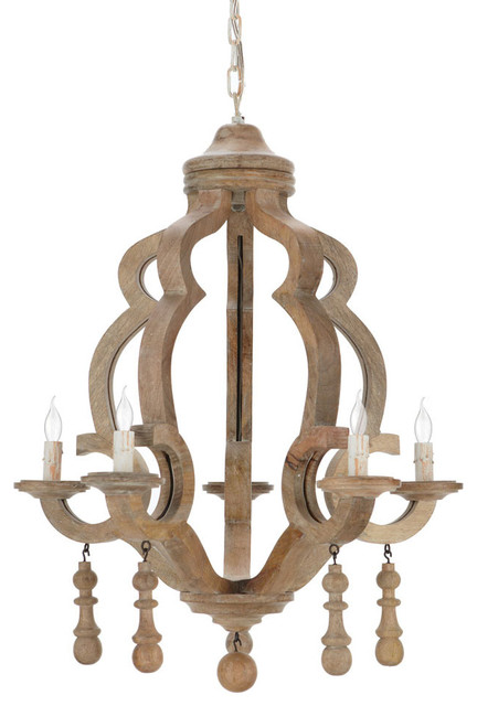 Nine Light Distressed White Wood And Iron Up Chandelier – Distressed Chandeliers