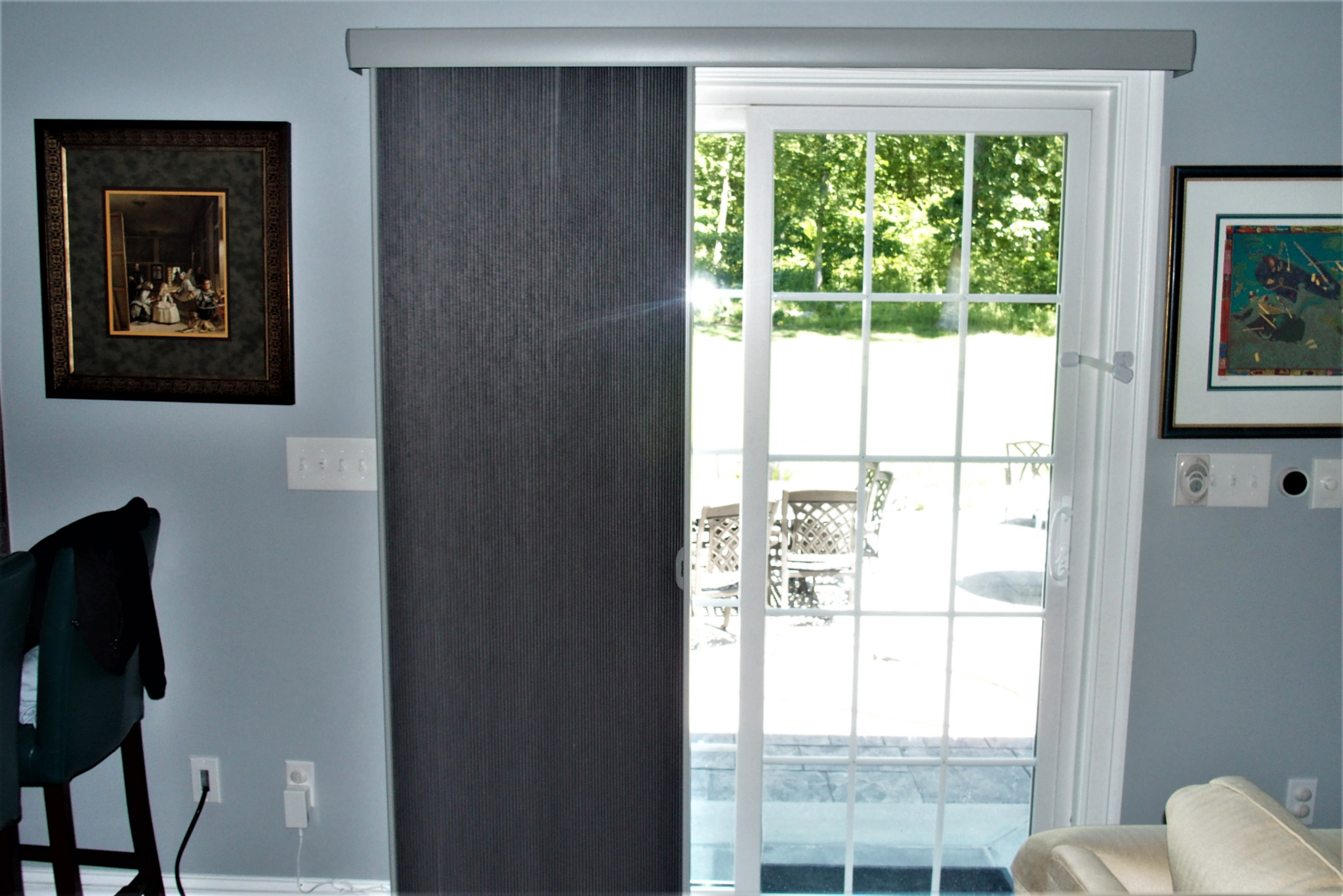 Motorized Hunter Douglas Duettes throughout a whole house