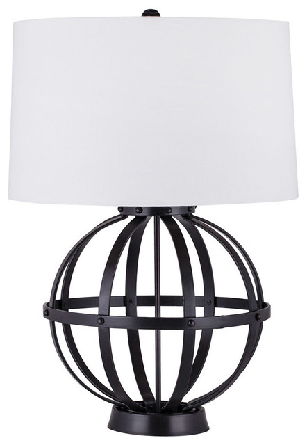 Iron Wire Sphere 1-Light Table Lamp, Oil Rubbed Bronze transitional-table- - Iron Wire Sphere Table Lamp - Transitional - Table Lamps - By