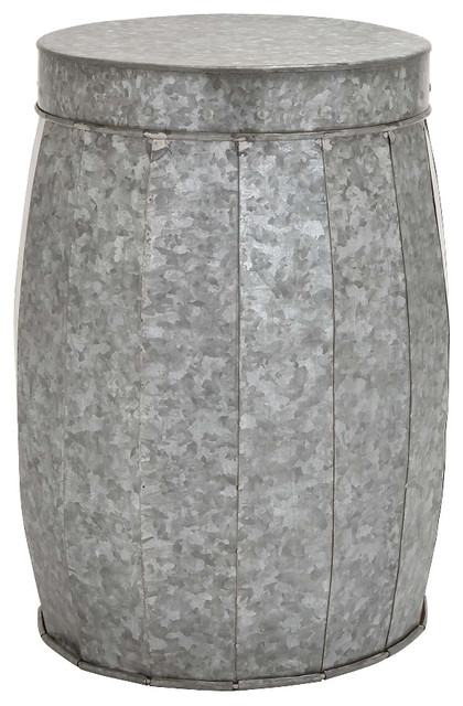 Modern Style Attractive Styled Metal Galvanized Stool Home Decor 23922