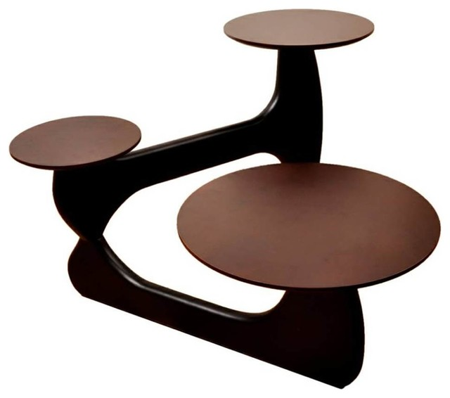 3 Tiered Coffee Table Dark Walnut Contemporary Coffee Tables By Shopladder