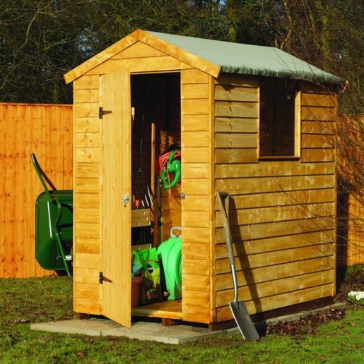 Premium overlap apex shed traditional sheds by wickes for Traditional garden buildings