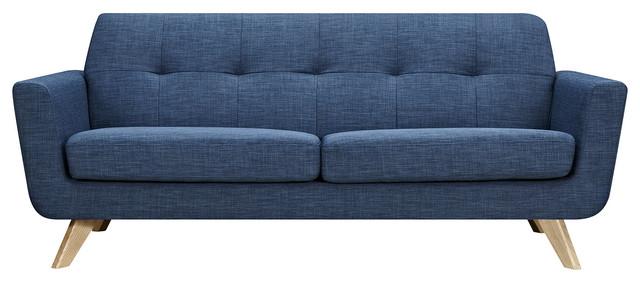 Stone Blue Dania Sofa Natural