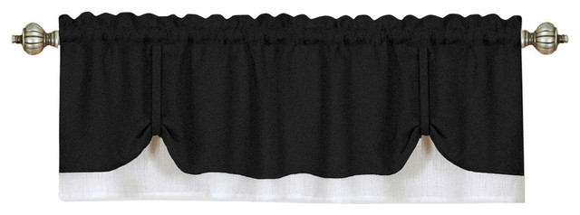Darcy Window Curtain Valance 58x14- Black/white.