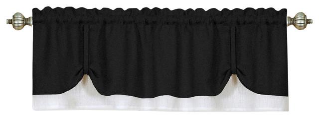 Darcy Window Curtain Valance 58x14- Black/white.