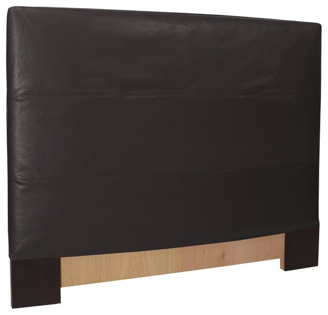 black faux leather headboard slipcover contemporary slipcovers