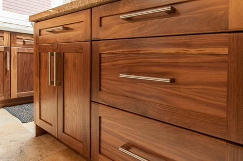 Has a stain been added to the walnut wood cabinets? if so what color?