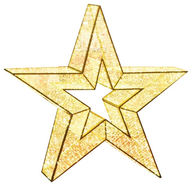 Commercial Grade Christmas Decorations: 4' Giant Commercial Grade LED Lighted Waterloo Star