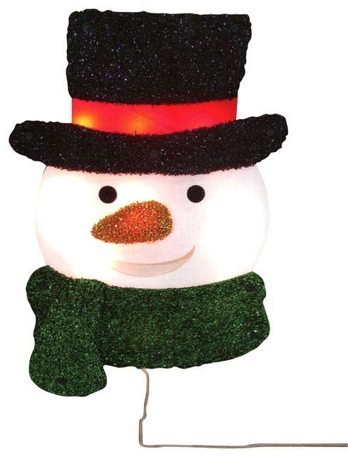 16 lighted tinsel snowman with top hat christmas window silhouette decoration - Top Hat Christmas Decorations