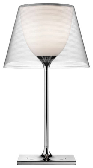 Flos Official Ktribe Modern Table Lamp, Chrome Body.
