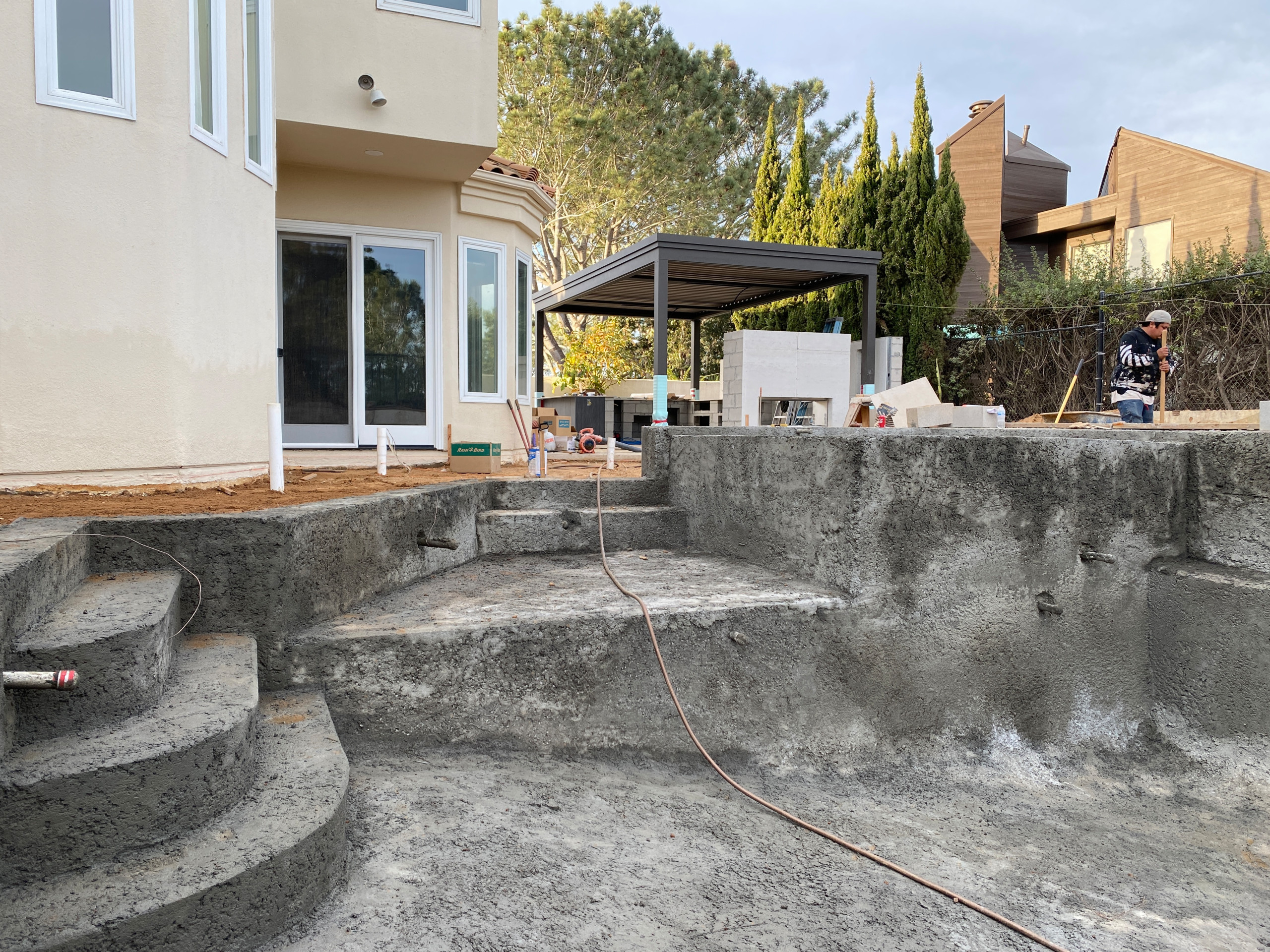 Pool Shotcrete Is In, Now Time For Coping!