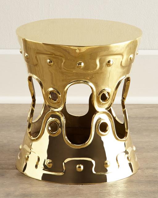 Ulu Concave Stool - BRASS