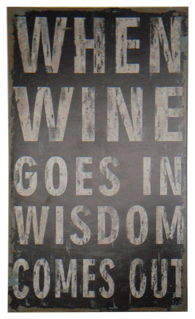 """wine Wisdom"" Wooden Wall Decor."