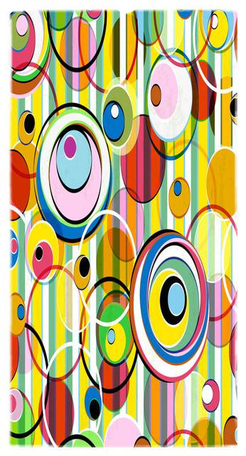 Summer Circles And Stripes Towel