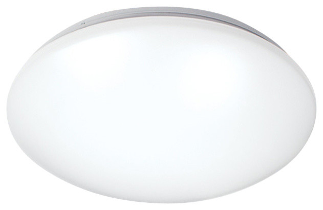 "Glo 11"" Led White Flush Mount, Warm White 2700k."