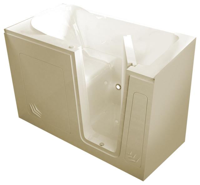 Meditub Walk-In 30 X 54 Right Drain Biscuit Soaking Walk-In Bathtub.