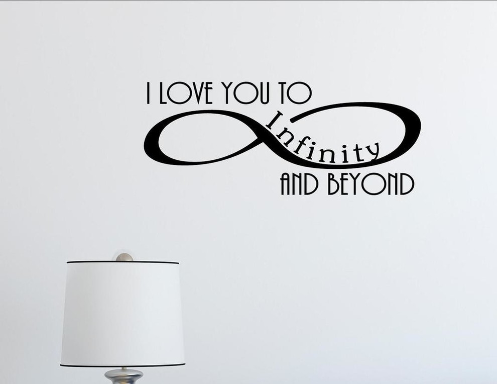 I Love You To Infinity And Beyond., Wall Decor Stickers ...