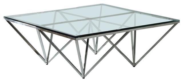 Modrest Newark Contemporary Glass Coffee Table.