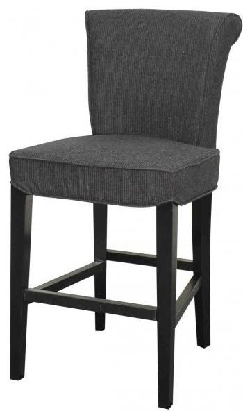 bentley fabric bar stools black legs set of 2