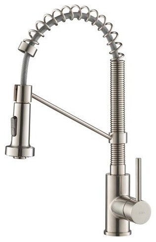 Bolden 1-Handle Pull Out Kitchen Faucet Stainless Steel.