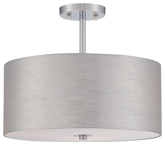 Lite source silvain 3 light semi flush ceiling fixture lite source silvain 3 light semi flush ceiling fixture chrome aloadofball Images