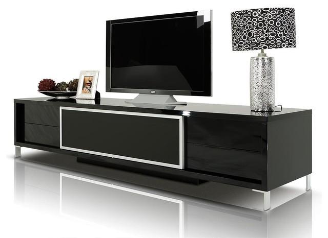 brighton black lacquer entertainment center modern media storage black laquer furniture