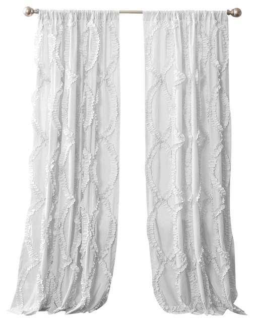 avon window curtain single panel white