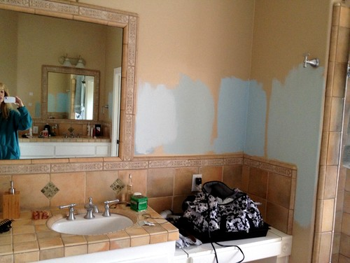 painting over tiles in bathroom. painting over tiles in bathroom