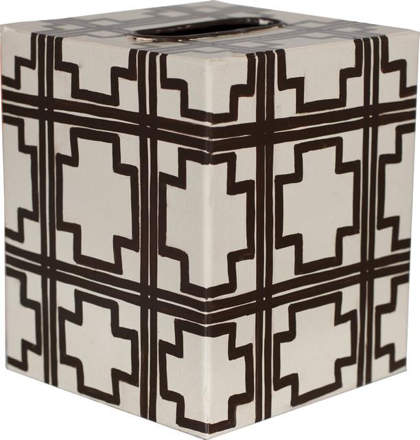 Kleenex Squares, Brown, Off White