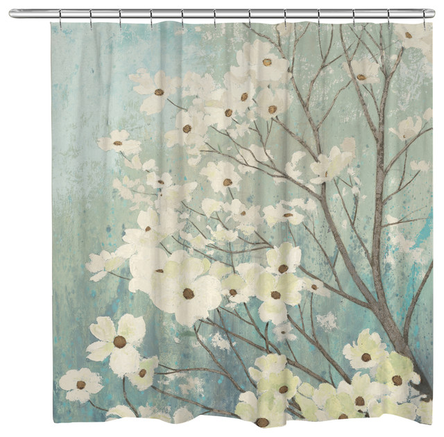 Incroyable Dogwood Blossoms Shower Curtain
