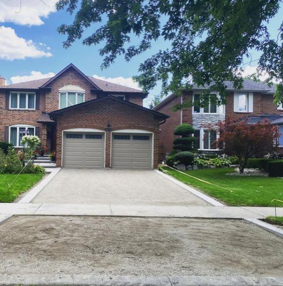 New porch, landing, curbs and asphalt