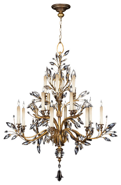 gold leaf chandelier modern style fine art lamps 773740st crystal laurel gold leaf 16 light chandelier