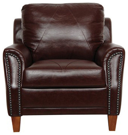 chair austin italian leather chair sienna brown traditional armchairs