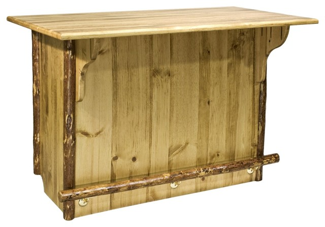 Montana Collection Bar With 39 Rail Rustic Wine And Bar
