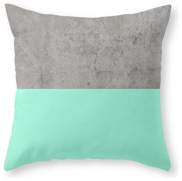 Scandinavian Design Throw Pillows : Sea On Concrete Throw Pillow - Scandinavian - Decorative Pillows - by Society6