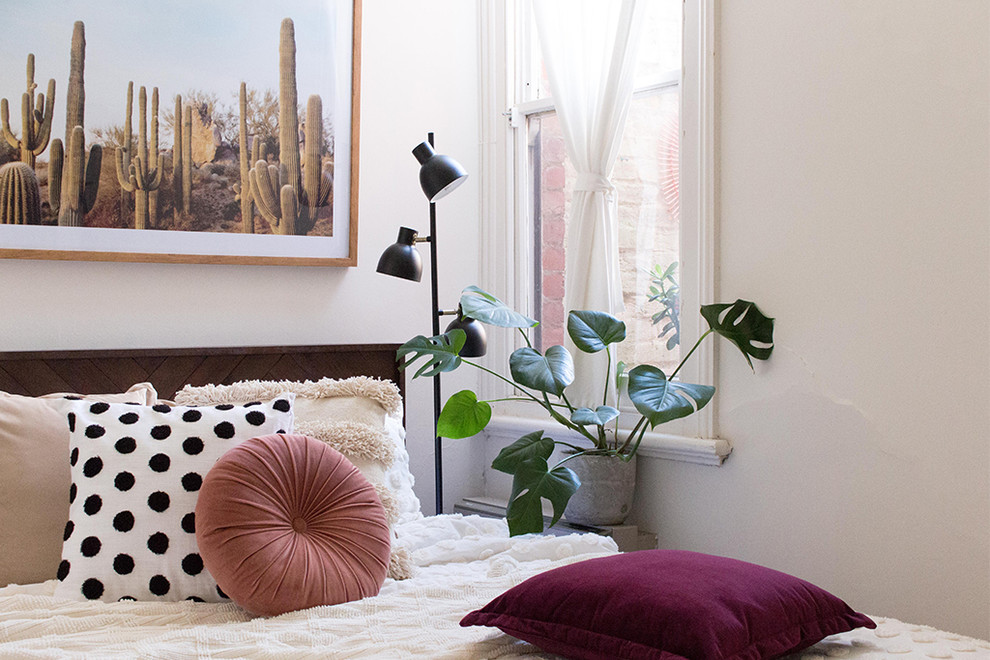 Inspiration for an eclectic home design remodel in Melbourne