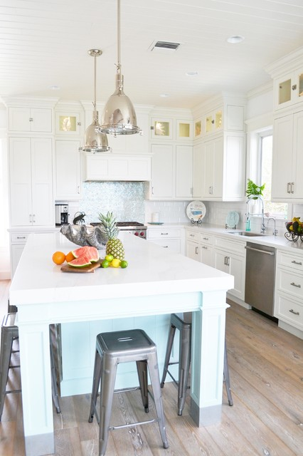 Intracoastal Beach Home by Waterview Kitchens beach-style