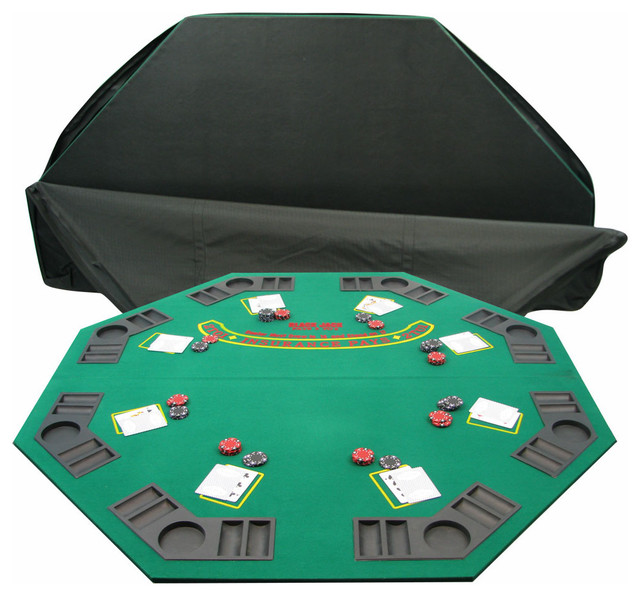 Deluxe Solid Wood Poker and Blackjack Table Top with Case by Trademark Poker  sc 1 st  Houzz & Deluxe Solid Wood Poker and Blackjack Table Top with Case by ...