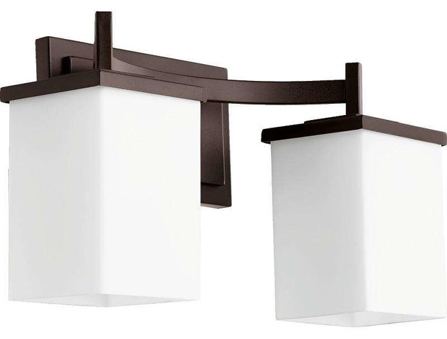 Quorum Lighting 5084 2 86 Delta Bathroom Light Oiled Bronze