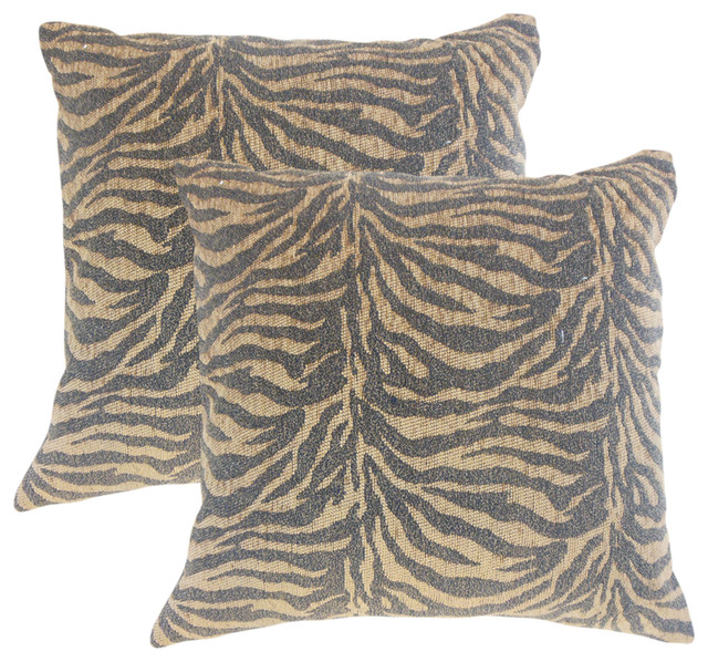 Ksenia Animal Print Throw Pillows Set Of 40 Contemporary Amazing Cheetah Print Decorative Pillows