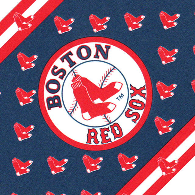MLB Baseball Boston Red Sox Accent Wallpaper Border Roll Contemporary Wall Decals